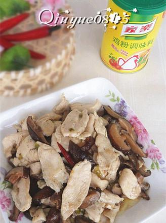 鸡片炒香菇的做法