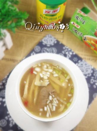 水煮竹笋汤的做法