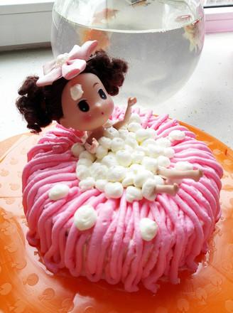 打印泡泡浴娃娃蛋糕的做法(美食杰)