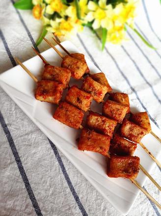烤鱼豆腐#夜宵#的做法