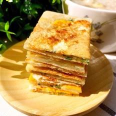 鸡蛋葱油饼(饺子皮版)