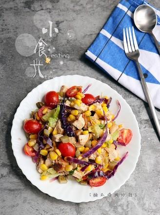 酸瓜鸡肉沙拉的做法