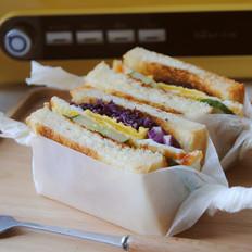 美味早餐三明治