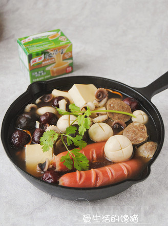 菌汤火锅的做法