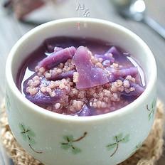 微波炉版紫薯小米粥