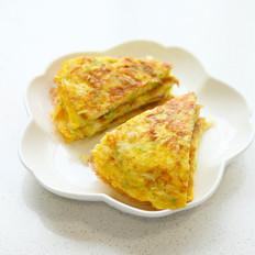 鲜虾西葫蛋饼