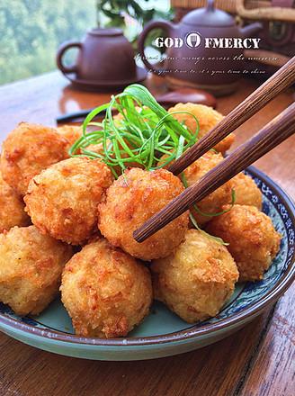 #越吃越FIT#外酥里嫩的豆腐猪肉丸子的做法