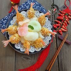 金丝沙拉凤尾虾#苏泊尔半决赛#