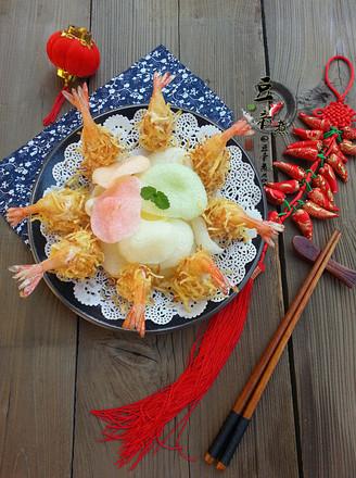 金丝沙拉凤尾虾#苏泊尔半决赛#的做法