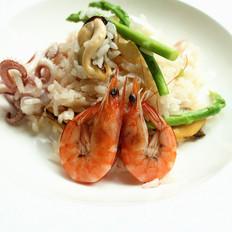 海鲜芦笋烩饭