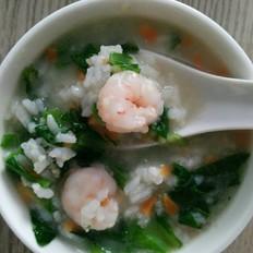 虾仁燕麦蔬菜粥