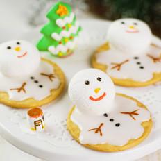 棉花糖雪人饼干