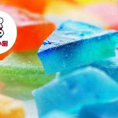 自制七彩宝石琥珀糖