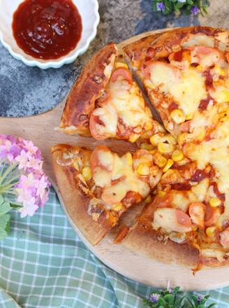 8寸火腿玉米披萨的做法
