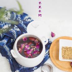 玫瑰红枣黑米粥