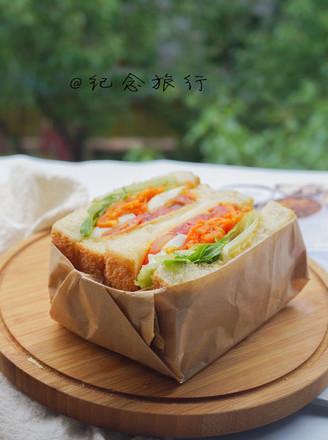 洋气的早餐 网红沼三明治的做法