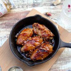蒜香果酱煎鸡翅#丘比果酱