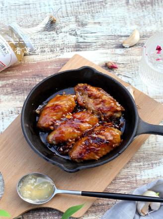 蒜香果酱煎鸡翅#丘比果酱的做法