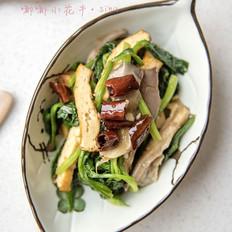 香干菠菜炝平菇