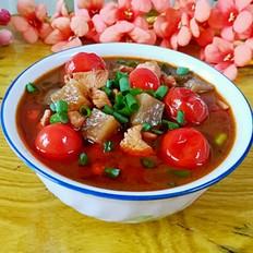 圣女果鸡肉汤