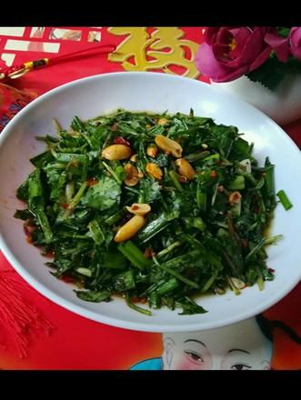 香草小葱拌婆婆丁的做法