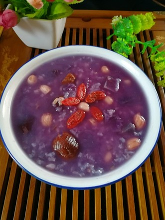紫薯甜米粥的做法