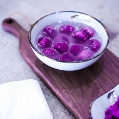 外婆紫薯水晶汤圆