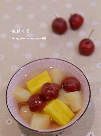 苹果山楂番薯糖水的做法