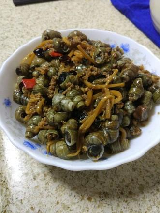 肉末酸笋炒螺蛳的做法