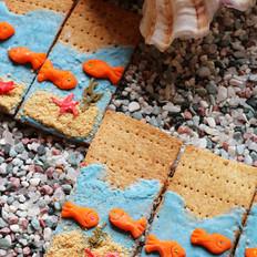 创意苏打饼干 海底世界 #樱花味道#