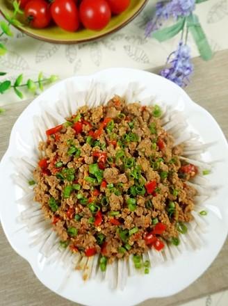 泡椒碎肉香芋丝的做法
