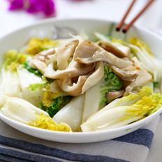 乌白菜炒凤尾菇