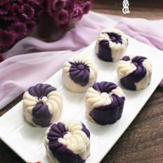 高颜值的紫薯山药糕