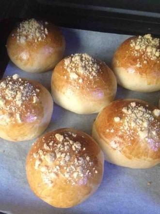 紫薯夹心酥粒包的做法