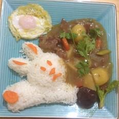 土豆牛肉兔子盖浇饭