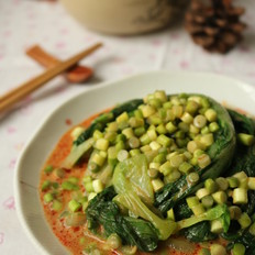 麻汁拌小白菜