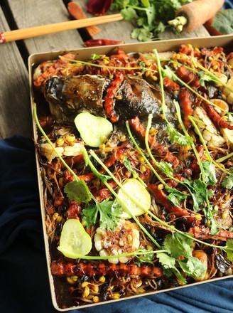 胡萝卜豆豉烤鱼的做法