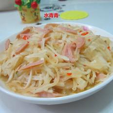 白萝卜火腿丝的做法[图]