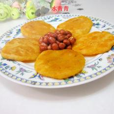 烙豆渣南瓜饼