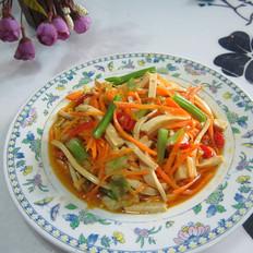 西芹萝卜豆腐丝