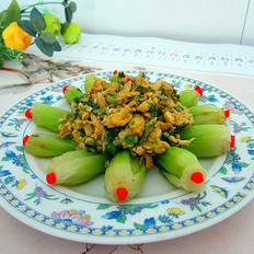 炒鸡蛋配蔬菜