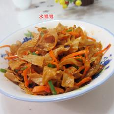 萝卜丝炒腐竹
