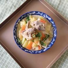 鸡架圆白菜汤