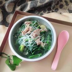 羊肉片菠菜汤