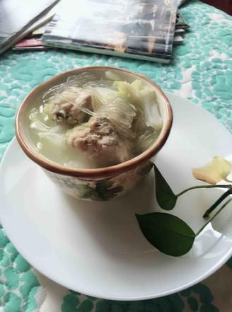 白菜猪骨汤的做法