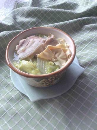 五花肉白菜炖干豆腐的做法