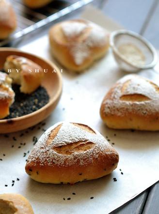 黑芝麻藜麦面包的做法