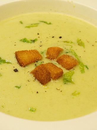 奶油生菜浓汤的做法