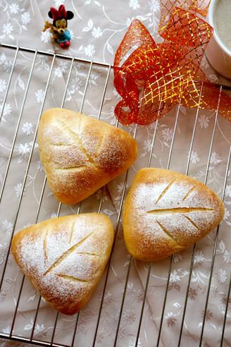叶形香芋面包的做法