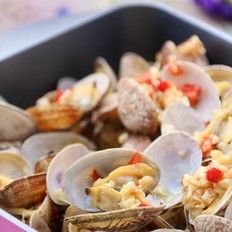 蒜香烤花蛤